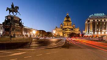 Sankt Peterburg i Moskva